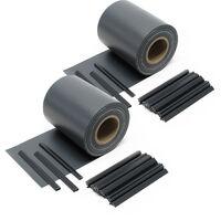 Sichtschutz Streifen, 70mx19cm schwarz aus PVC 650g/m², mit 40 Clips, Zaunfolie