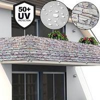 Sichtschutz/Windschutz für Balkon/Gartenzaun 5m Stein/Mauer