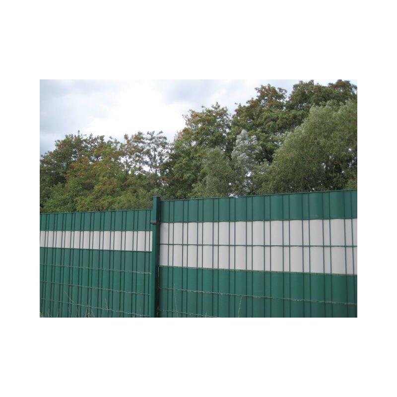 PVC Sichtschutzstreifen Balkon Garten Sichtschutz-Zaun 35 m x 19 cm Farbwahl