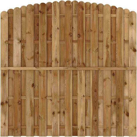 Turbo Sichtschutzzaun Element Gartenzaun aus Holz vertikal Bogendesign - PY87