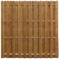 Sichtschutzzaun-Element Senkrechtes Profil Kiefernholz 180 x 180 cm