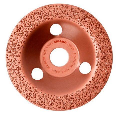 Sidamo - Bandeja de lijado Carbocup D.125mm Grain 24 Flat