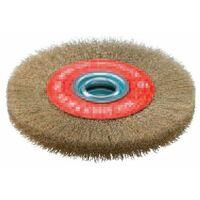 Sidamo - Brosse circulaire avec bague D.250x35x32mm fil ondulé laitonné