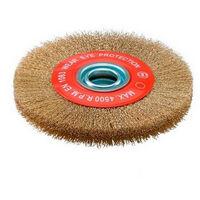 Sidamo - Brosse circulaire avec bagues 200 x 20 x 32 mm fils ondulés acier laitonné