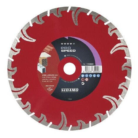 Sidamo - Disque diamant Ø 230 mm x 22.23 - PRO SPEED