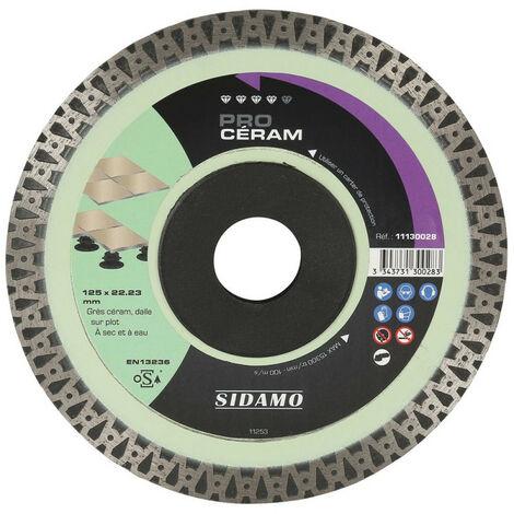 Sidamo - Disque Diamant Pro Ceram - D. 125 X 22,23 X H 10