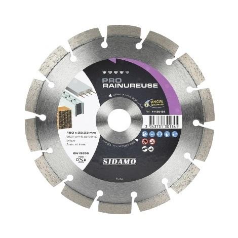 Sidamo - Disque diamant PRO RAINUREUSE D.150x22,23xh 10mm
