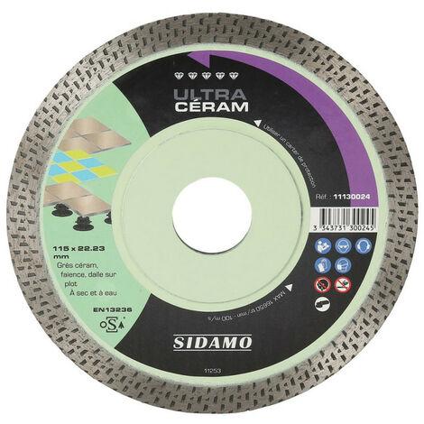 Sidamo - Disque diamant ULTRA CÉRAM D.115x22,23xh 10mm
