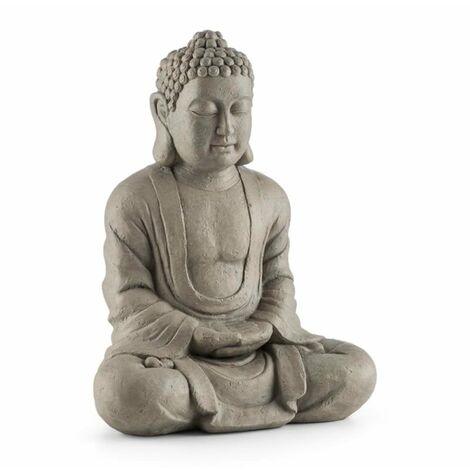 "main image of ""Siddhartha Sculpture 60cm Fiberglass Cement Natural Stone Look"""
