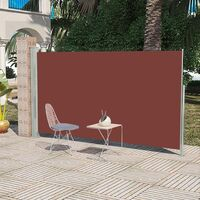 Side Awning Patio Retractable 160 x 300 cm Brown