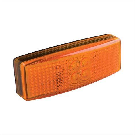 Side marker lamp 12/24V amber 110x40mm LED