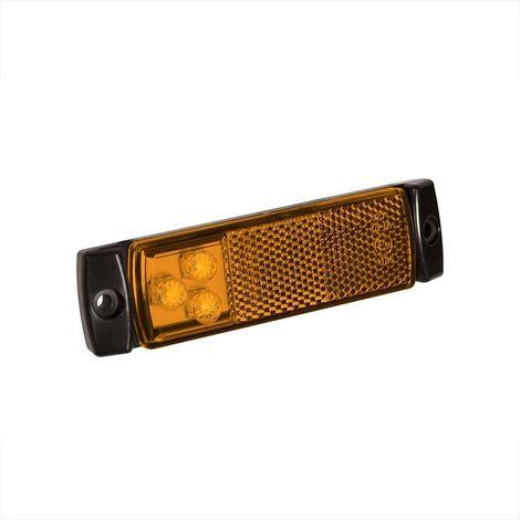 Side marker lamp 12/24V amber 126x30mm LED