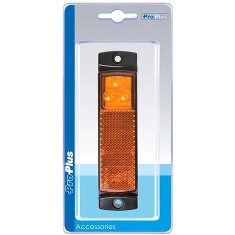 Side marker lamp 12/24V amber 126x30mm LED in blister