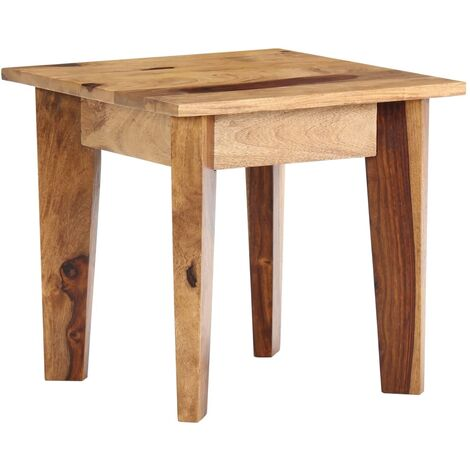 Side Table 43x43x40 cm Solid Sheesham Wood - Brown