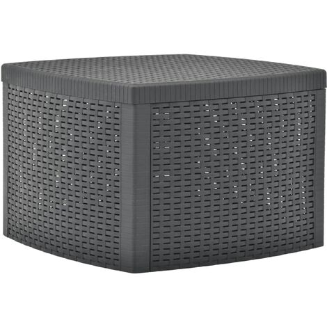 Side Table Anthracite 54x54x36.5 cm Plastic