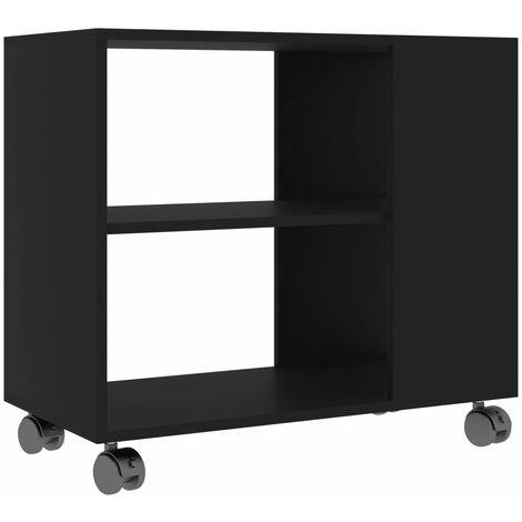 Side Table Black 70x35x55 cm Chipboard