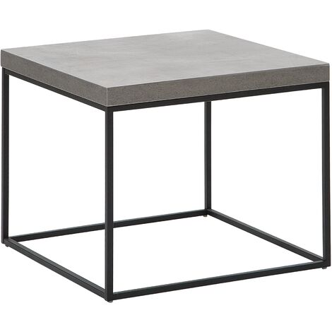 Side Table Concrete Effect with Black DELANO