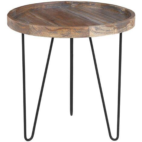 Side Table Dark Wood Bondiss 145183