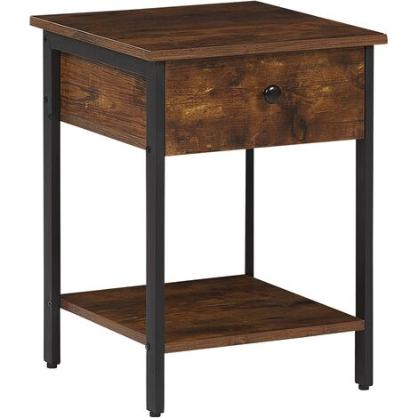 Side Table Dark Wood VESTER