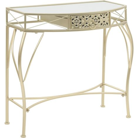 Side Table French Style Metal 82x39x76 cm Gold - Gold