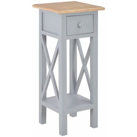 Side Table Grey 27x27x65.5 cm Wood