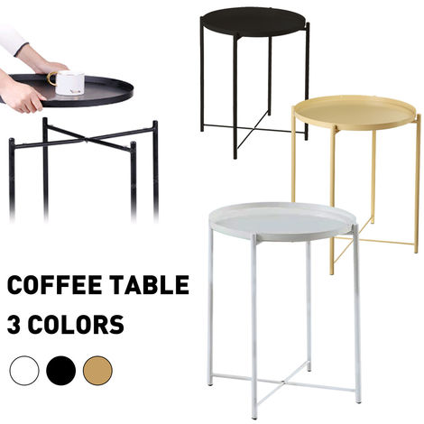 Side table Metal coffee table 53cmx42cm