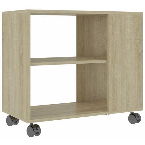 Side Table Sonoma Oak 70x35x55 cm Chipboard