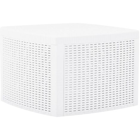 Side Table White 54x54x36.5 cm Plastic