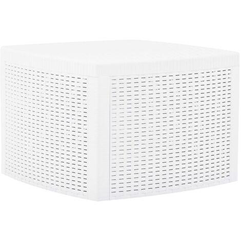 Side Table White 54x54x36.5 cm Plastic - White