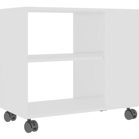 Side Table White 70x35x55 cm Chipboard
