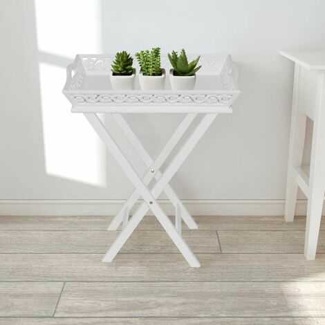 Side Table with Tray White