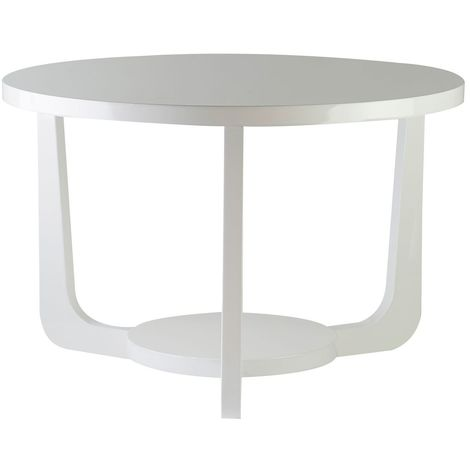Side Table,MDF,White High Gloss
