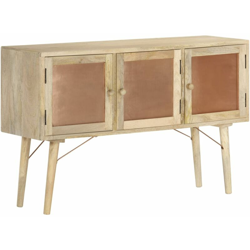 Sideboard 118×35×75 cm Massivholz Mango