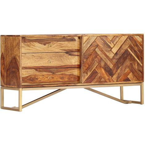 Sideboard 118x30x60 cm Solid Sheesham Wood