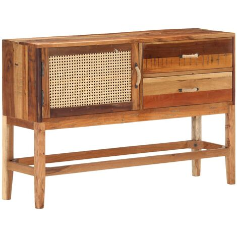 Sideboard 118x30x76 cm Solid Reclaimed Wood