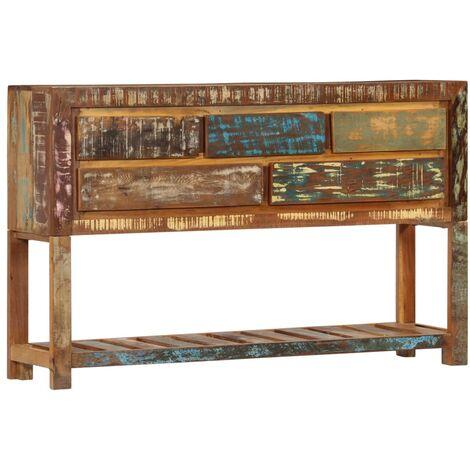 Sideboard 120 x 30 x 75 cm Recyceltes Massivholz