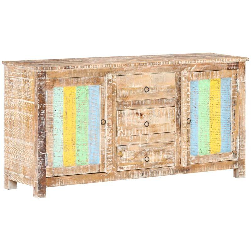 Sideboard 151x40x75 cm Raues Akazienholz - VIDAXL