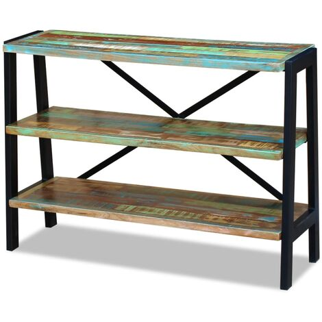 Sideboard 3 Regalböden Recyceltes Massivholz