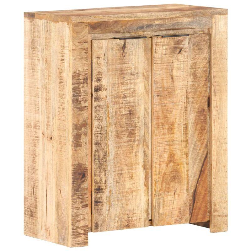 Sideboard 59x33x75 cm Raues Mangoholz - VIDAXL