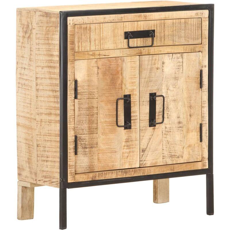 Vidaxl - Sideboard 60×30×75 cm Raues Mangoholz