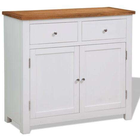 Sideboard 90x33.5x83 cm Solid Oak Wood