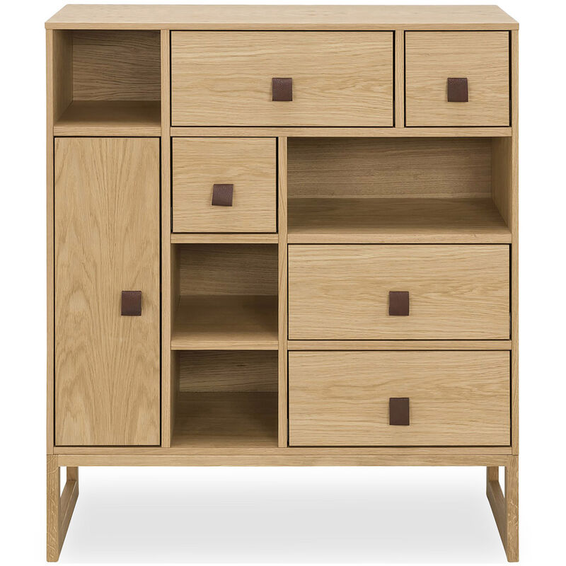 Sideboard aus Holz Scandinavian Style - Niels Natural wood