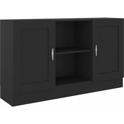 Sideboard Black 120x30.5x70 cm Chipboard