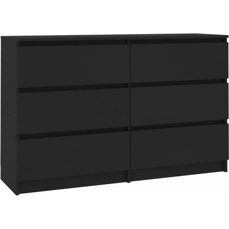 Sideboard Black 120x35x76 cm Chipboard