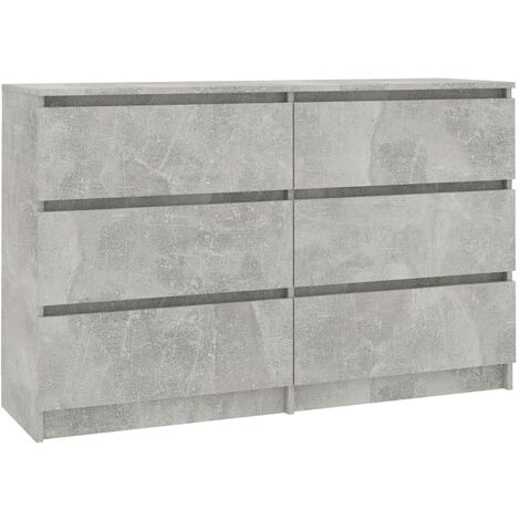 Sideboard Concrete Grey 120x35x76 cm Chipboard