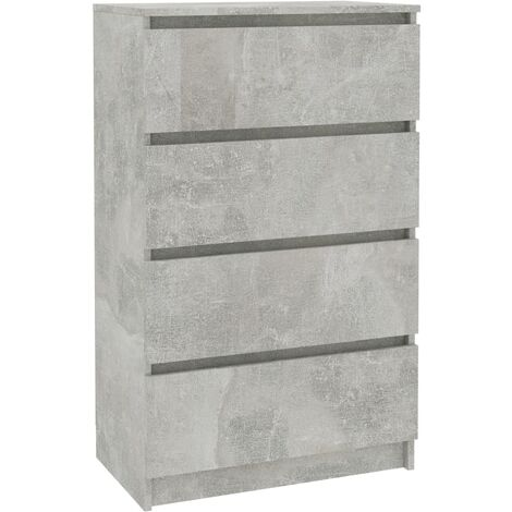 Sideboard Concrete Grey 60x35x98.5 cm Chipboard