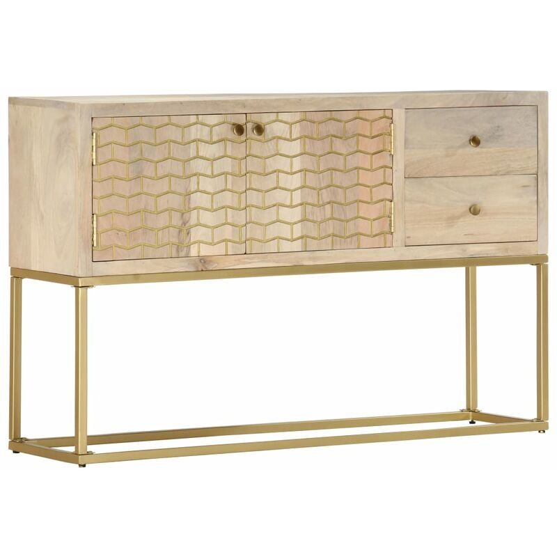 Sideboard Golden 120 x 30 x 75 cm Mango-Massivholz - VIDAXL