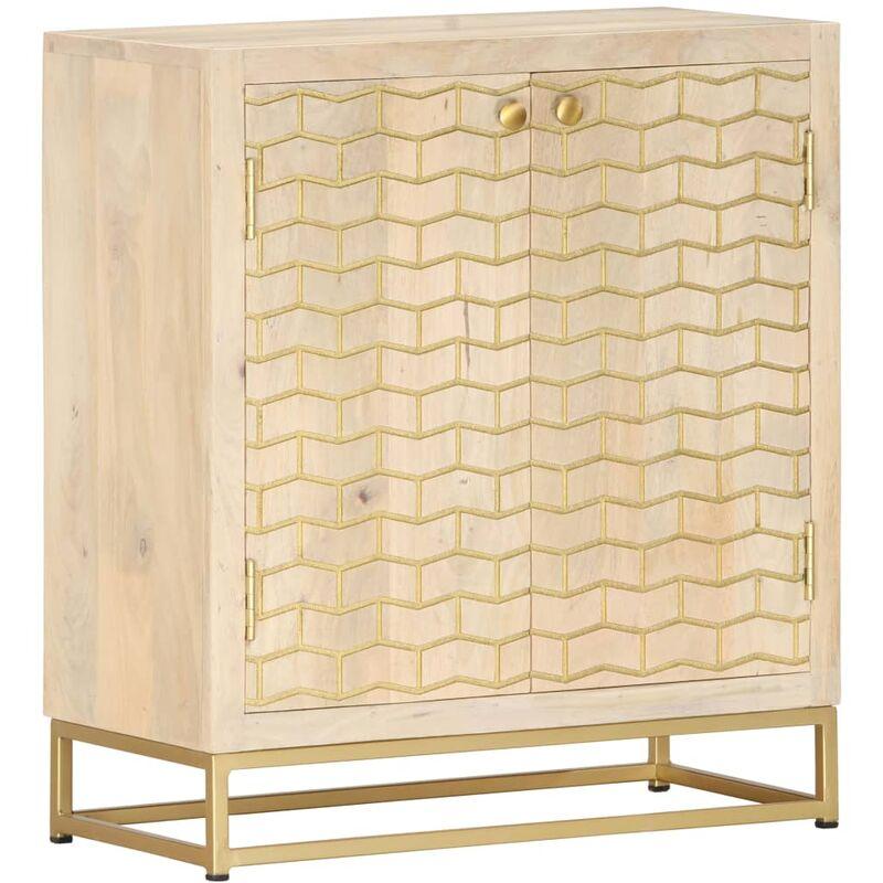 Vidaxl - Sideboard Golden 60 x 30 x 70 cm Mango-Massivholz