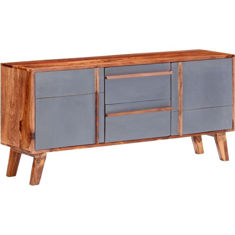 Vidaxl - Sideboard Grau 120x30x55 cm Massivholz