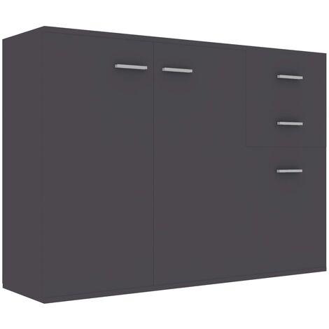 Sideboard Grey 105x30x75 cm Chipboard